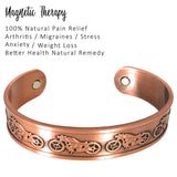 Motor Bike Design Mens Copper Bangle Wrist Cuff
