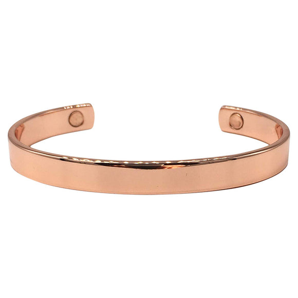 Traditional Elegant Magnetic Copper Bangle - Arthritis Health Bracelet for Men & Women - with Gift Box