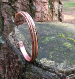 Pure Copper Magnetic Health Bangle - Traditional Twisted Rope Design - Arthritis Bracelet for Men & Women - with Gift Box