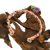 Copper Bracelet Bangle with Pain Relief Magnets for Arthritis Rheumatism Carpal Tunnel Migraine - Plus Velvet Pouch