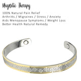 Gold & Silver Plated Women's Copper Magnetic Bangle