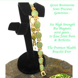 green jade aventurine magnetic therapy bracelet for women natural pain relief for arthritis joint pain carpal tunnel relief menopause symptoms hot flushes best gift for women and ladies plus gift box