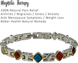 Helena Rose Beautiful Semi Precious Natural Stone Womens Magnetic Health Bracelet - Menopause Magnets For Relief Of Symptoms Presented In A Branded Gift Box