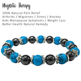 magnetic therapy bracelet for women natural pain relief for arthritis joint pain carpal tunnel relief menopause symptoms hot flushes best gift for women and ladies plus gift box turquoise stone and hematite
