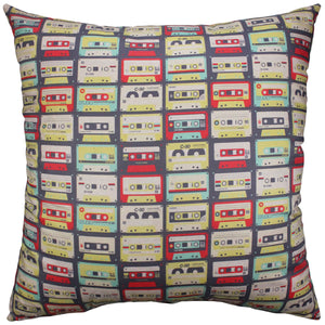 Cassette Tapes Tile Pillow