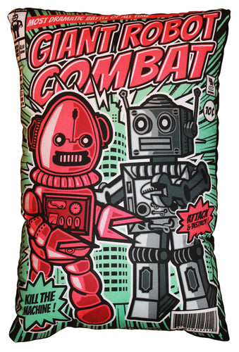 Giant Robot Combat Pillow