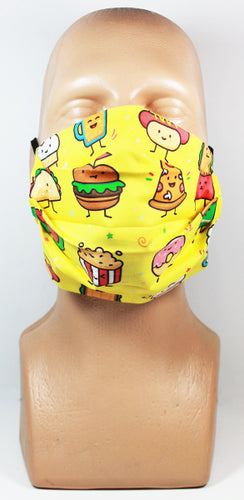 Junk Food Friends Face Mask