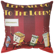 Load image into Gallery viewer, Let's All Go To The Lobby Pillow