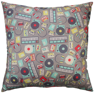 Music Collage Pillow