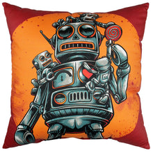 Load image into Gallery viewer, Robots With Candy Pillow