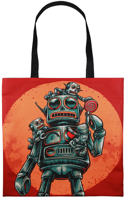 Robots With Candy Tote Bag