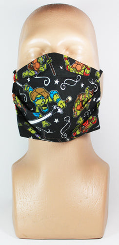 Turtles (Black) Face Mask