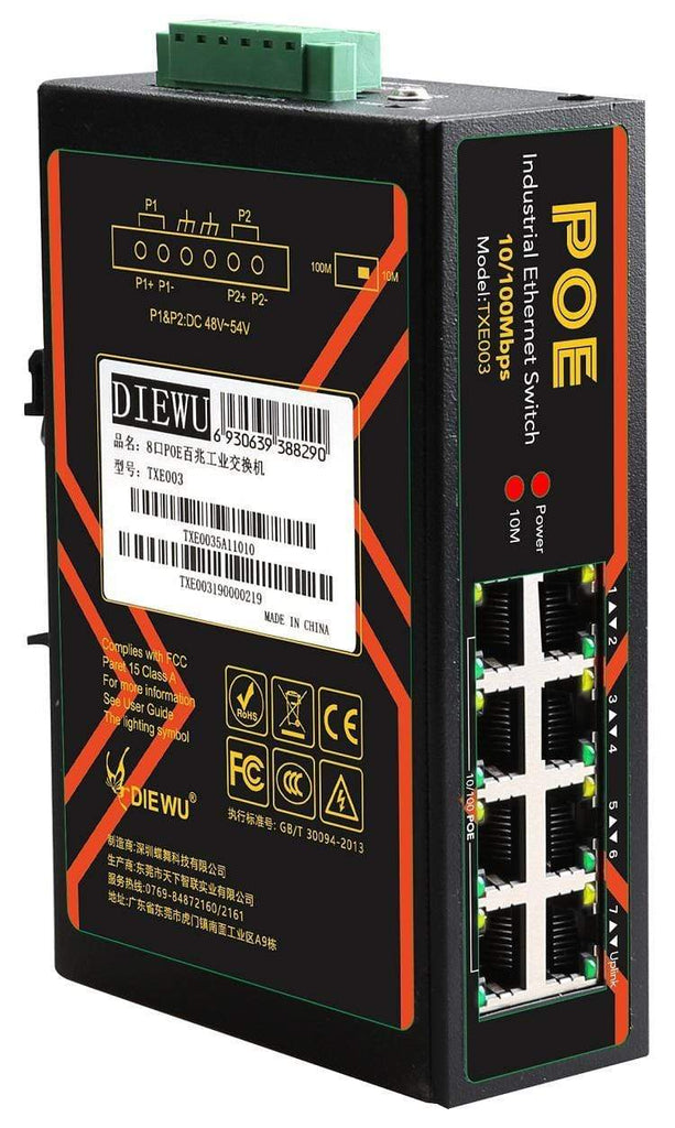 CShop.co.za | Powered by Compuclinic Solutions 8-PORT 100M POE INDUSTRIAL SWITCH TXI003