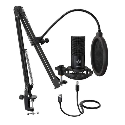 Fifine Fifine T669 Cardioid USB Condensor Microphone Arm Desk Mount Kit - Black T669