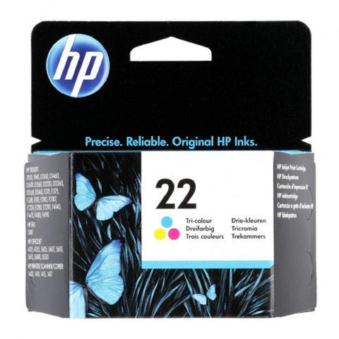 HP Cartridge HP 22 Tri-Colour Original Ink Cartridge - C9352AE C9352AE