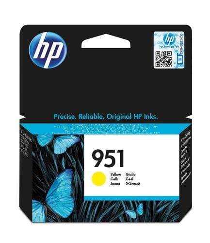 CShop.co.za | Powered by Compuclinic Solutions HP # 951 YELLOW OFFICEJET INK CARTRIDGE - STANDARD CAPACITY- OfficeJet Pro 8100 ePrinter series OfficeJet Pro 8600 e-AIO - CN052AE CN052AE