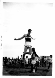 Victor wins the long jump for McLane High in 1968