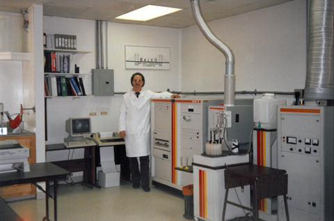 Victor at BALCO Laboratories in 1988