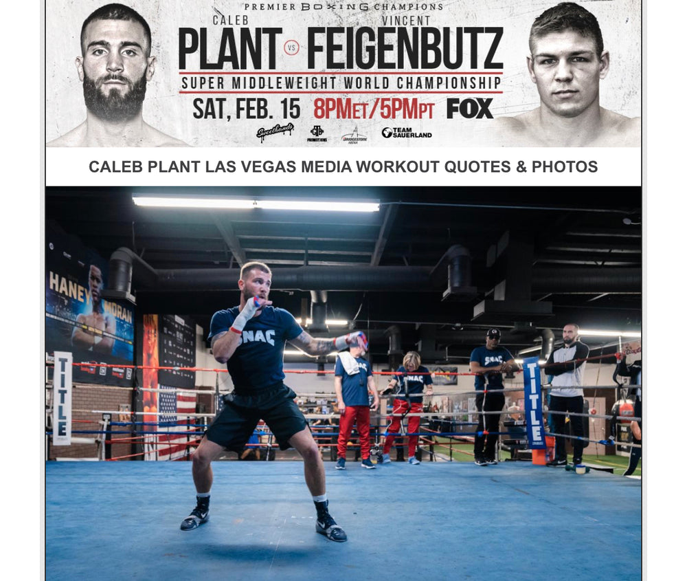 CALEB PLANT LAS VEGAS MEDIA WORKOUT QUOTES & PHOTOS