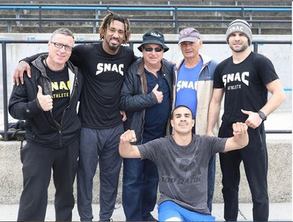 "SNAC Trainer Mike Bazzel, Demetrius ""Boo Boo"" Andrade, Victor Conte, Remi Korchemny, Andy ""El Tiburon"" Vences, Stan ""The Man"" Martinyniouk"