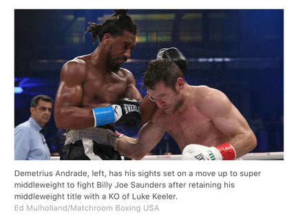 Demetrius Andrade defends middleweight belt with KO of Luke Keeler