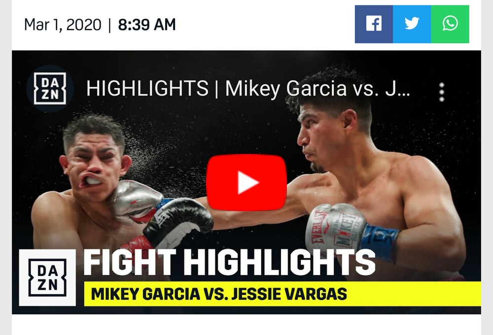 MIKEY GARCIA VS. JESSIE VARGAS RESULTS, HIGHLIGHTS: GARCIA STRUGGLES EARLY BUT GETS WELTERWEIGHT WIN
