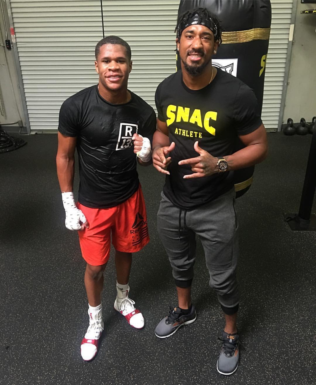 Devin Haney and Demetrius Andrade