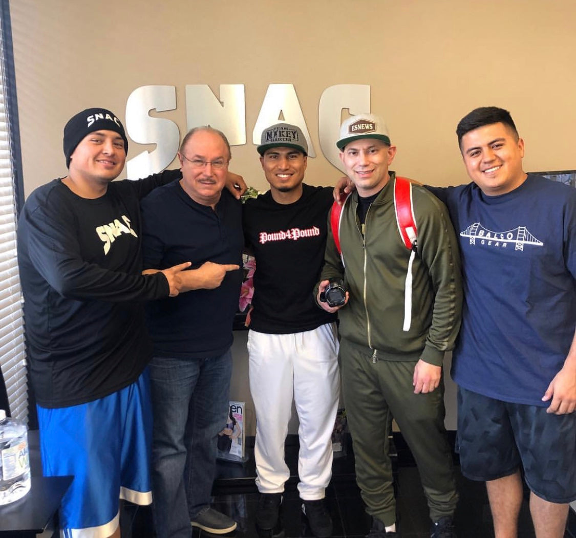 Elie Seckbach with Victor Conte and Team Mikey Garcia