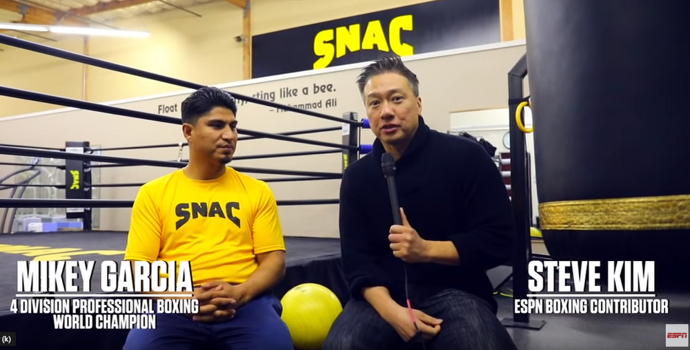 Mikey Garcia on training for Errol Spence Jr.