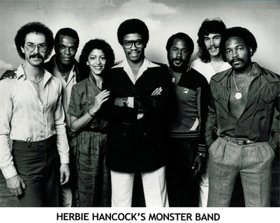 Victor Conte with Herbie Hancock's Monster Band in 1980
