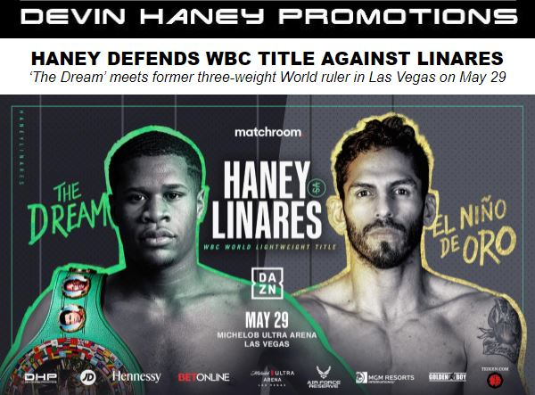 "WBC World Lightweight Devin ""The Dream"" Haney Defends Title Against Jorge Linares"