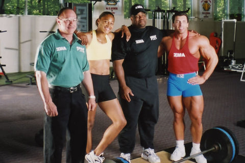 Victor Conte, Marion Jones, CJ Hunter and Milos Sarcev