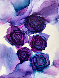 Alcohol Ink Roses