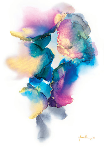 """""""Sweet Surrender"""" is an abstract alcohol ink painting by Jamie Pomeranz aka Devils May Care"""