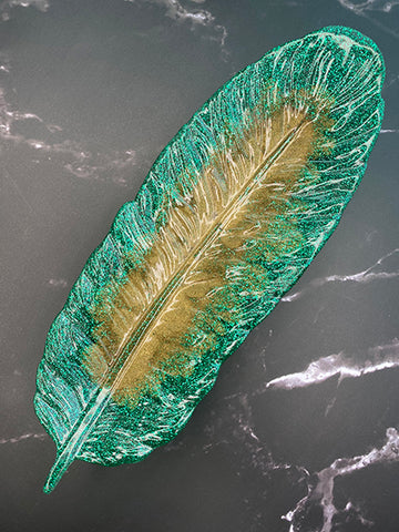 Resin Feather Jewelry Dish or Rolling Tray B