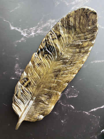 Resin Feather Jewelry Dish or Rolling Tray 3