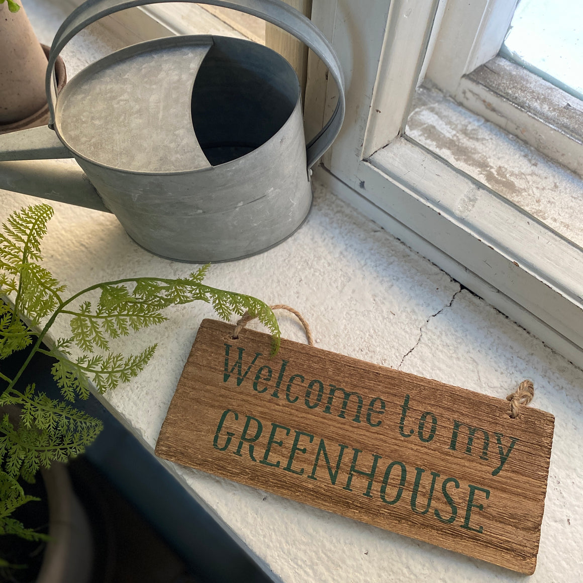 "Kyltti ""Welcome to my GREENHOUSE"""