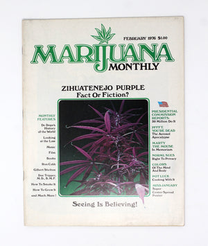 Marijuana Monthly – Vol. 2, No. 1.  Feb 1976