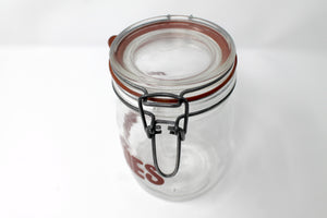 Munchies Glass Jar - Red