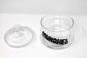 Munchies Glass Jar - Black