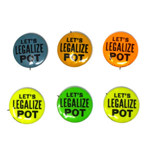 "Vintage ""Let's Legalize Pot"" Button"