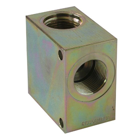 mounting block for 2/2way valve 021-E - 1""