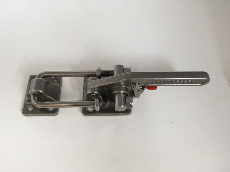 Latch Type Toggle Clamp, Short Stainless Steel, with safety hook
