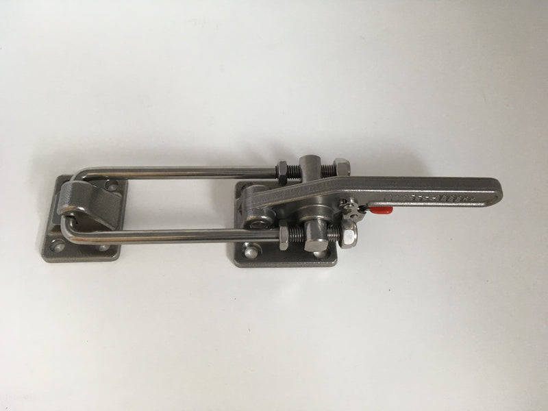 Latch Type Toggle Clamp, Long Stainless Steel, with safety hook