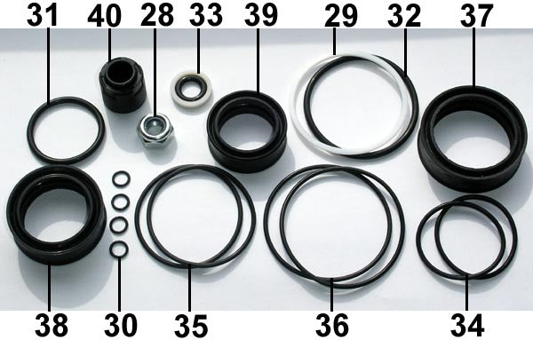 Fill Injector Seal Set F50 ... 16 .. EPP Eject