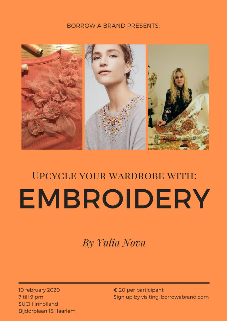 Workshop: Upcycle your wardrobe with embroidery