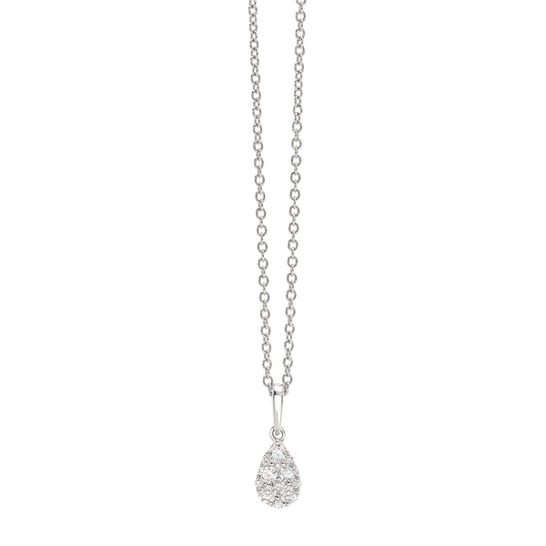 by Gianni Lazzaro 18 Karat White Gold Pendant Necklace full of Sparkling Diamonds
