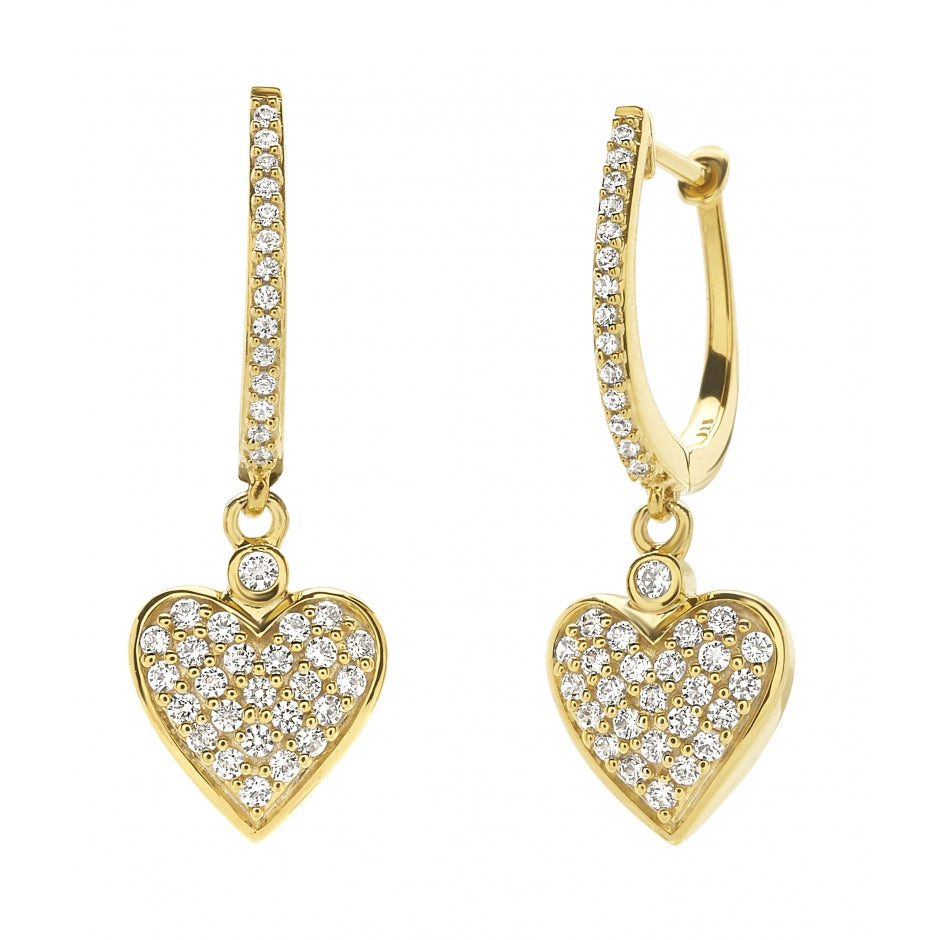 HEART hanging Earrings