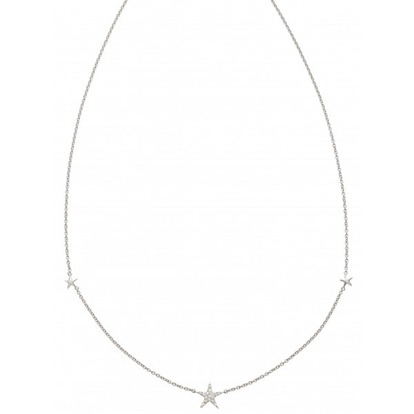 3 Stars Diamond Pavé Choker in 14 Karat White Gold