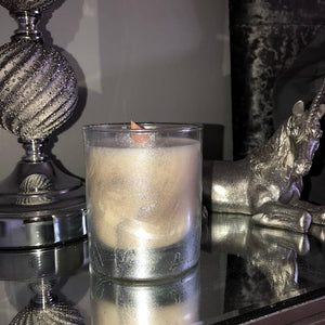Silver Marble Candle